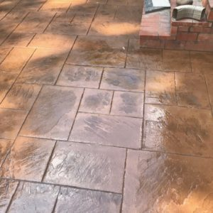 Stamped and Stained Concrete Company The Woodlands TX