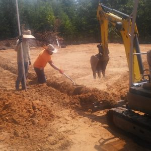 Concrete footers Cypress