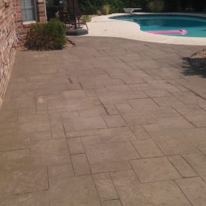 Concrete staining and stamping Spring
